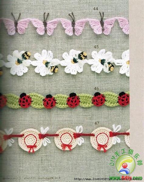 flower pattern edge crochet edging braid free patterns crochetribart