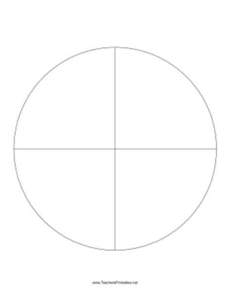 pie template pie chart template 4 slices