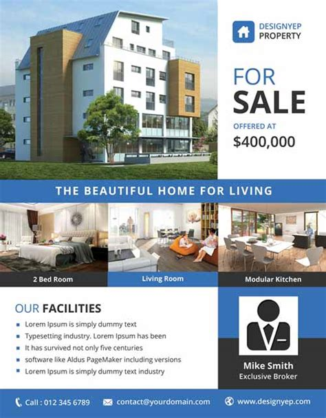 real estate listing flyer template real estate free psd flyer template ff