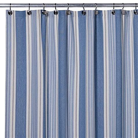 Shower Curtain For Blue Bathroom Blue Shower Curtain Bed Bath Beyond