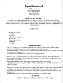Professor Resume Sample Professional Masters Creative Essay Example