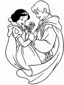 disney land princess snow white prince ferdinand coloring kids coloring point