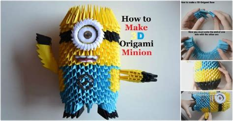 tutorial origami 3d minion how to make 3d origami minion how to instructions