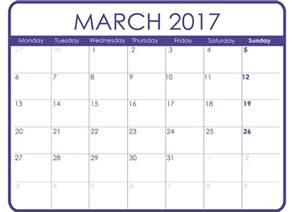 march calendar template march 2017 printable calendar templates free printable