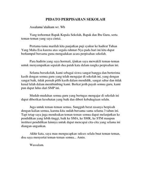 contoh pidato perpisahan kelas 6 singkat informasi terbaru 2015