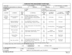 Army Composite Risk Management Worksheet Example And Composite ...