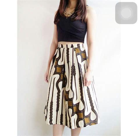 Mini Dress Back Batikmini Dressdress Hitam Kombinasi rok batik style kebaya batik fashion and