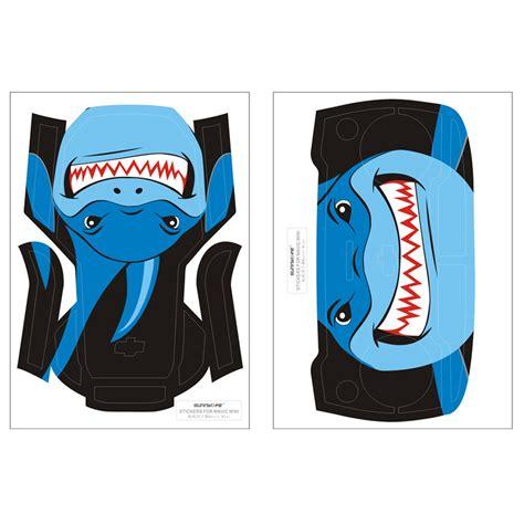 sunnylife sticker set  dji mavic mini rc aircraircraft blue shark