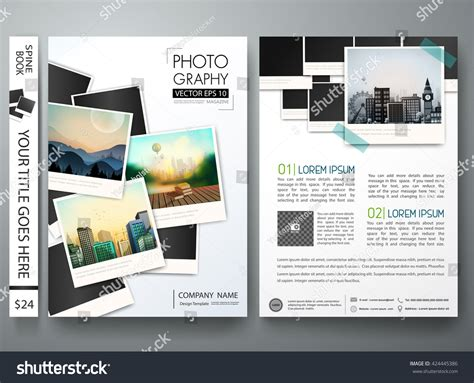 design magazine photography flyers template vector photography brochure report stock