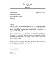 Letter Cancelling Meeting Sample Meeting 4 Reservation Letter 22120579