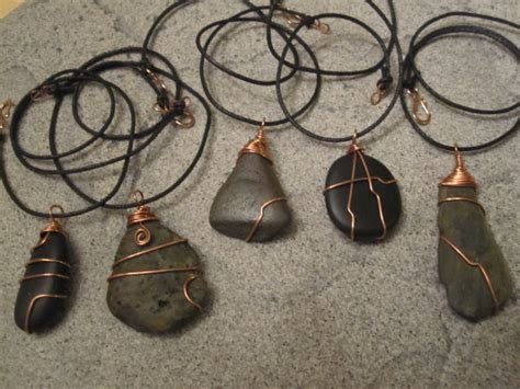 how to make jewelry with wire and stones treasures from the river wire wrapped stones jewelry