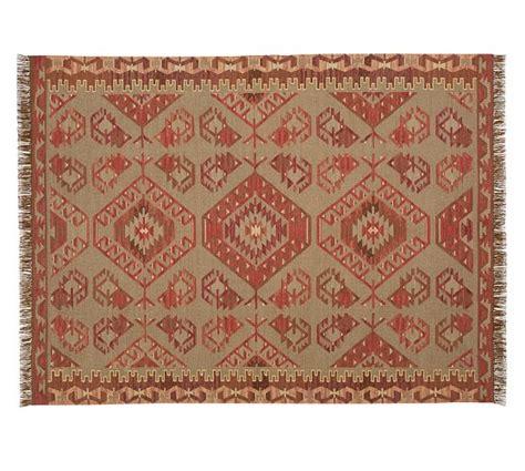 synthetic rug damen synthetic kilim rug warm multi pottery barn