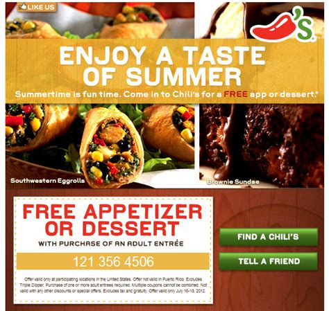 chilis printable coupon free appetizer how to get coupons by mail 2017 2018 best cars reviews