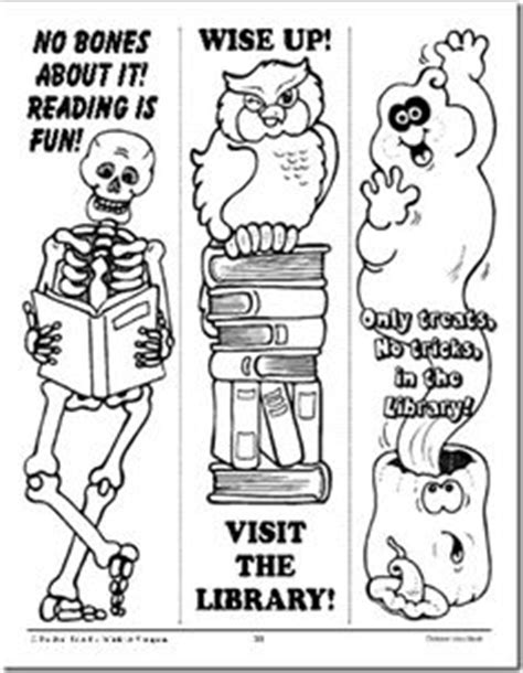 printable halloween bookmarks black white free printable bookmarks to color for fun and to encourage