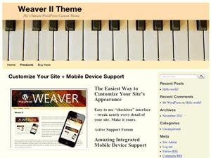 Download Free Wordpress Themes Templates Piano Website Template