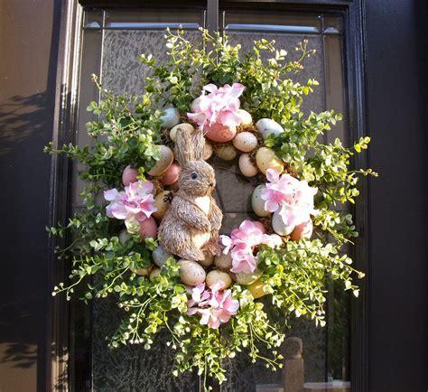 Easter Door Wreaths by Easter Bunny Wreath Easter Egg Wreath Easter Door Wreath