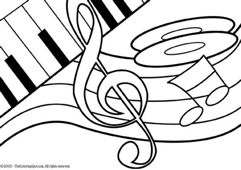 coloring page for music free coloring pages of notes
