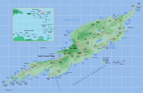 anguilla map large detailed political map of anguilla anguilla large detailed political map vidiani