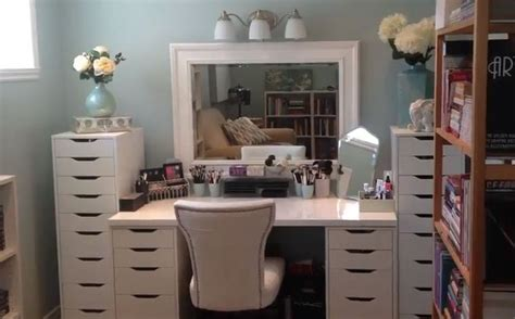 small makeup desk with drawers alex drawer with makeup two small alex drawer units with