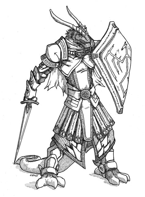 krauser dragonborn warlord by peachyco on deviantart