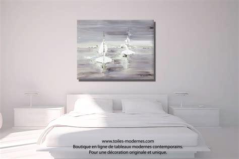 tableau d馗oration chambre tableau gris voyage en mer grand format rectangle