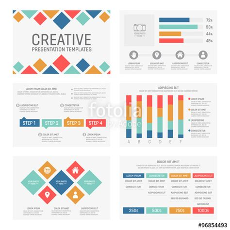 powerpoint charts and graphs templates quot vector template for multipurpose presentation slides with