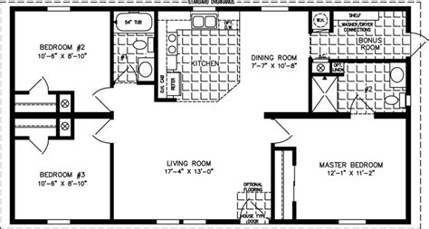 Jacobsen Mobile Home Floor Plans 1000 to 1199 sq ft manufactured home floor plans