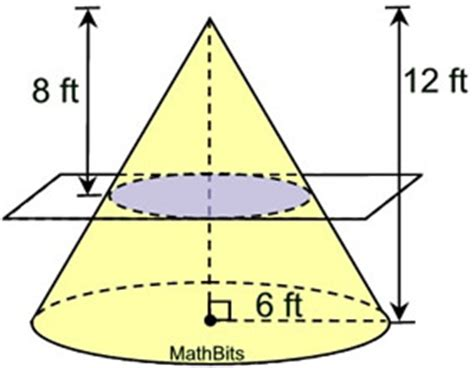 Area Of A Cone Section by Pyramid And Cone Practice Mathbitsnotebook Geo Ccss Math