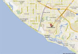 map of costa mesa california costa mesa ca pictures posters news and on your