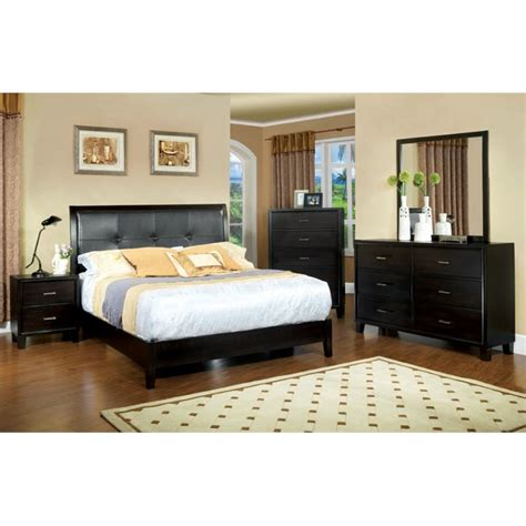 espresso king bedroom set furniture of america muscett 4 piece king bedroom set in
