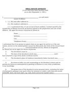 free illinois small estate affidavit form pdf word