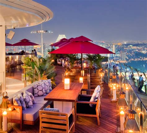 bar on top of marina bay sands skypark bars and restaurants fine dining for your