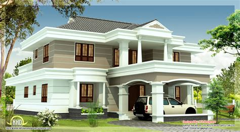 beautiful houses plans 2540 sq feet beautiful house elevation kerala home design and floor plans