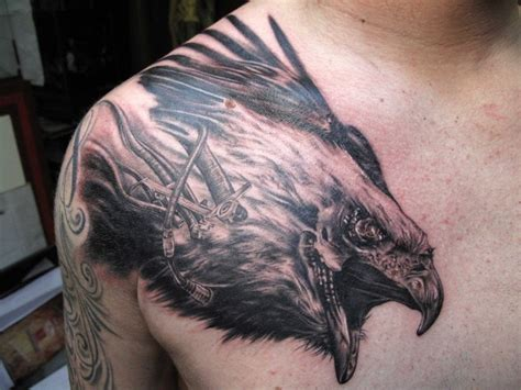 eagle head tattoo designs 60 graceful eagle tattoos on chest