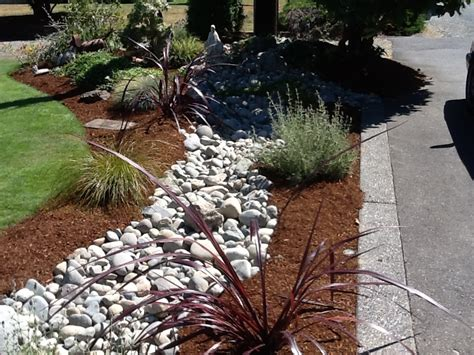 river rock landscaping home decor diy