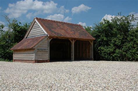 2 Bay Garage by Border Oak 2 Bay Garage With Logstore Our Cottage
