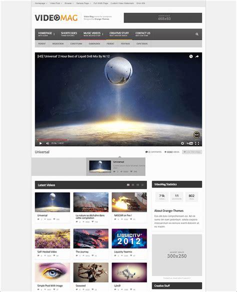 theme wordpress video youtube free youtube wordpress themes free premium templates