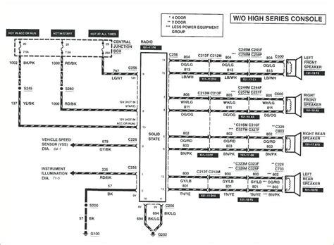 ford  radio wiring diagram  wiring