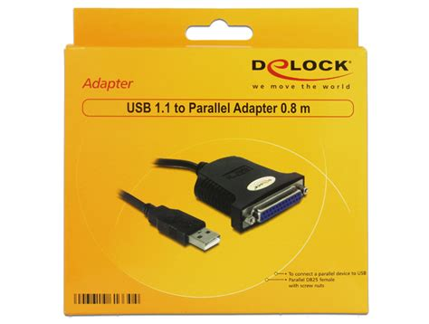 Sale Kabel Usb To Parallel Usb To Lpt delock adapterkabel parallel port db25 auf usb 0 8m