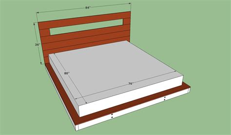 King Size Platform Bed Frame Plans Diy Size Platform Bed Plans Woodworking Projects