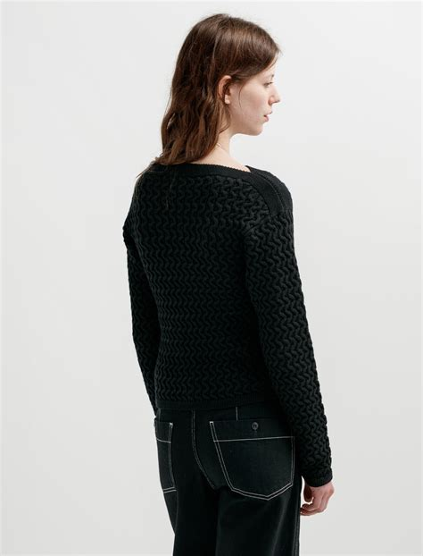 black cable knit sweater lemaire fitted cable knit sweater black garmentory