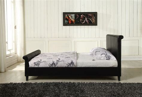 New York Bed Frame New York Leather Bed Frame With Mattress Free Next Day Delivery Amazing Ebay