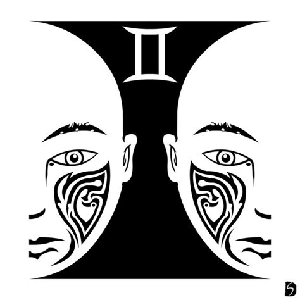 gemini tribal tattoo design tribal zodiac gemini by gifhaas on deviantart