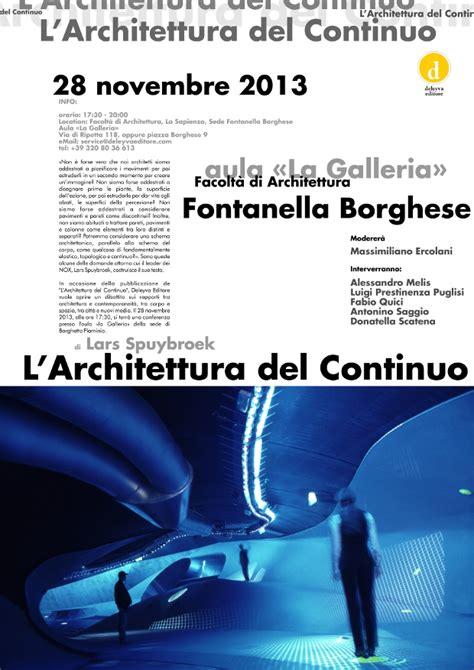 la sapienza sede di l architettura continuo conferenza alla facolt 224 di