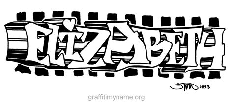 coloring pages with the name elizabeth graffiti name elizabeth sketch coloring page