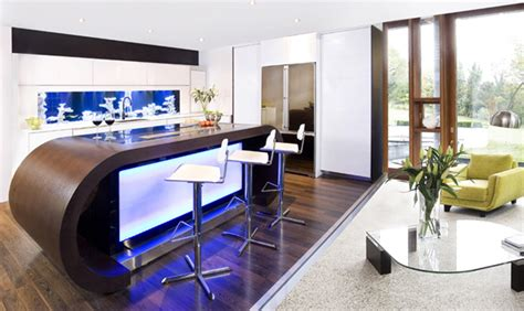 Modern Aquarium Kitchen With A Strong Visual Impact By | modern aquarium kitchen with a strong visual impact by