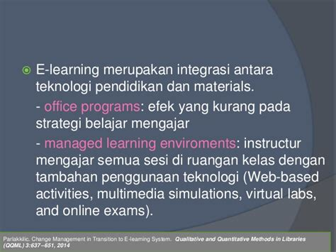 Qualitative Research Methodology In Communication Konsep Panduan e learning for continuing profesional development
