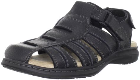 mens fisherman sandals sale dockers mens fulton fisherman sandal in black for lyst