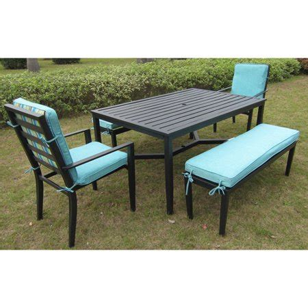walmart patio dining sets mainstays rockview 5 patio dining set black seats