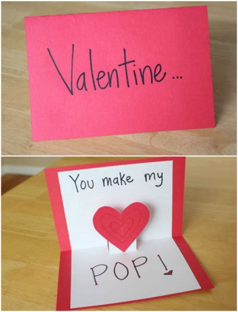 how to make a pop up valentines card write on markle s day is with